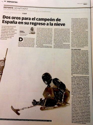 Jorge Jimenez Díaz campeón de España de esquí adaptado
