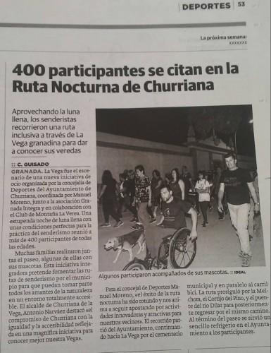 Senderismo Nocturno en Churriana